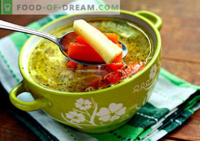 Supă de legume de legume - cele mai bune rețete. Cum să gătești supa de gătit corect și gustos în bulionul de legume.