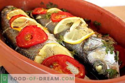 Pește copt în cuptor - cele mai bune rețete. Cum să gătiți pește în cuptor.