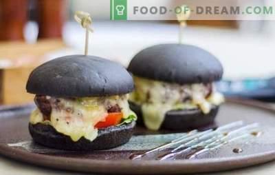 Chifle negre - adevărata tendință a acestui sezon! Rețete de chifle negre pentru burgeri pe lapte, apă, chefir cu drojdie și ciuperci