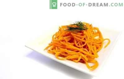 Acest morcov în stil coreean la domiciliu este o gustare savuroasă. Rețete de morcovi autentici coreeni cu aditivi