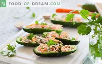 Salata coreeană de morcovi și castraveți: delicatețe picante. Cele mai bune rețete de salată de morcov și de castravete populare coreeană