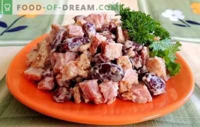 Salata de fasole și șuncă este o gustare hrănitoare. Retete pentru salate cu fasole si sunca: legume, picante, hranitoare si usor