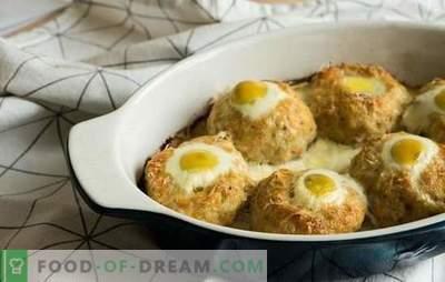 Cuiburi de carne tocată cu ou în cuptor - o alternativă la chifteluțele. Retete cuiburi de carne tocata cu ou in cuptor cu diverse umpluturi