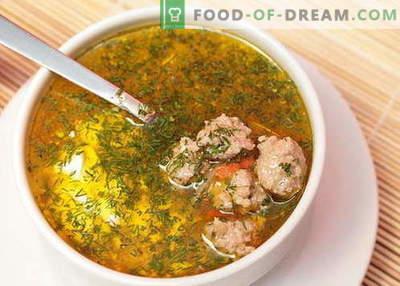 Supă de carne - cele mai bune rețete. Cum să gătești în mod corespunzător și să gătești supă cu chifteluțe.