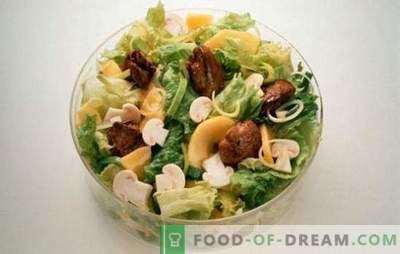 Salată cu ficat și ciuperci: cele mai reușite rețete de gătit. Gătit salate delicioase din ficat și ciuperci în diferite variante