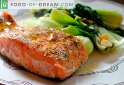 Печен лосос во рерната - најдобри рецепти. Како правилно и вкусно готвење лосос, печени во рерна.