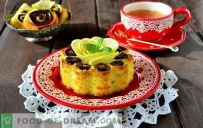 Cum să gătești prăjitura de lamaie în cuptor și aragazul lent. Subtilitățile gătitului de bomboane de lamaie cu impregnare, pe chefir, cu semințe de mac