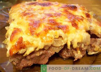 Carne cu brânză - cele mai bune rețete. Cum să procedați corect și să preparați carnea cu brânză.