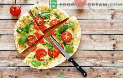 Aluat pizza pe chefir: opțiuni pentru aluat