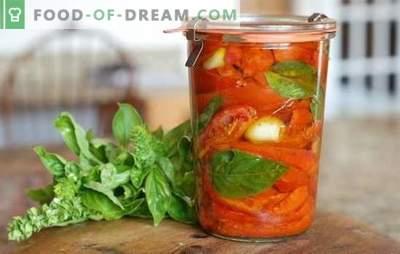 Tomate cu oțet pentru iarnă: 8 rețete cele mai bune. Cum se face o recoltare de roșii cu oțet pentru iarnă
