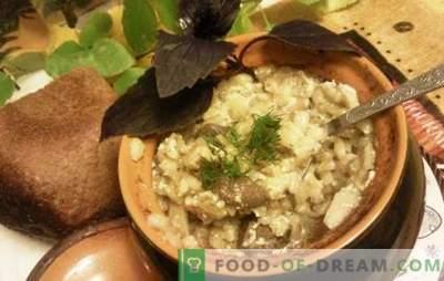 Perl în ghivece - delicios, nu cuvântul! Rețete pentru orz cu carne în vase cu legume, ciuperci și lapte