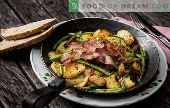 Cartofi cu carne în tigaie - o tradiție! Cele mai bune retete de cartofi prăjiți cu carne într-o tigaie: cu carne tocată, smântână, legume