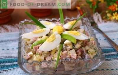 Salata de ou și de șuncă este o gustare pentru orice ocazie. Top 12 cele mai bune retete pentru salata cu ou si sunca: hrana si lumina