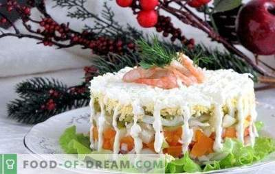 O selecție de salate cu squid și morcovi - alegerea este imensă! Retete pentru salata cu calmar si morcovi din produsele disponibile