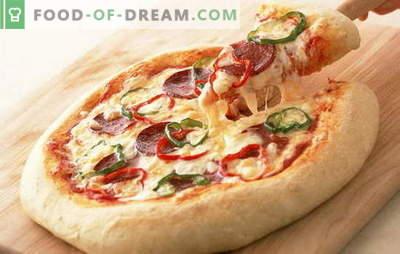 Rețetă pentru pizza cu cârnați și brânză - cea mai bună invenție a bucătăriei italiene. Varietate de toppinguri în rețete de pizza cu cârnați și brânză
