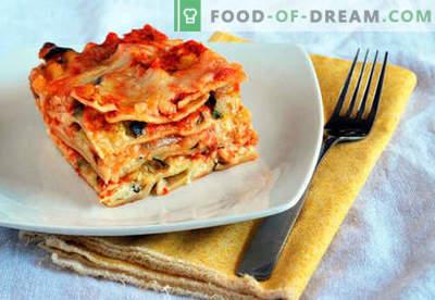 Lasagna clasică - rețetele potrivite. Cum să gătești rapid și gustos clasic lasagna.