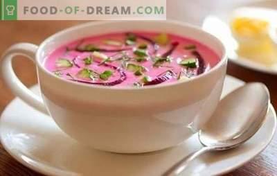 Supă rece: o rețetă pas cu pas - în căldura lucrurilor! Pas cu pas rețete, secrete de gătit delicioase borscht rece