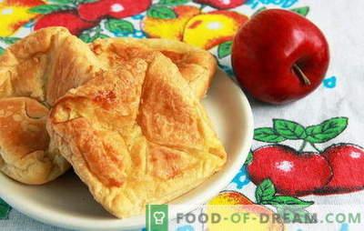 Pâine de patiserie cu mere de patiserie - mai ușor decât crezi. Rețete pentru produse de patiserie cu mere din patiserie: limbi și plicuri