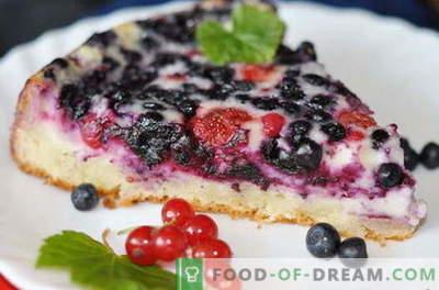 Plăcile de berry sunt cele mai bune rețete. Cum să gătești corect și gustos un tort cu fructe de pădure.