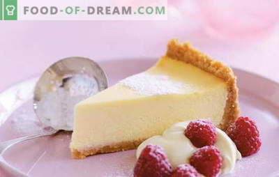Cheesecake de mascarpone - brânză cu cremă aromată. Retete pentru vanilie, brânză de vaci, brânză de capsuni cu mascarpone