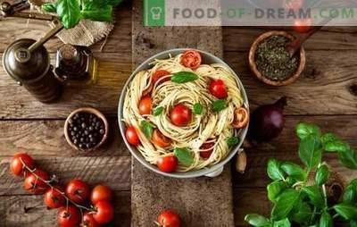 Ce condimente sunt necesare pentru feluri de mâncare din paste? Acum nu numai italienii știu acest lucru.