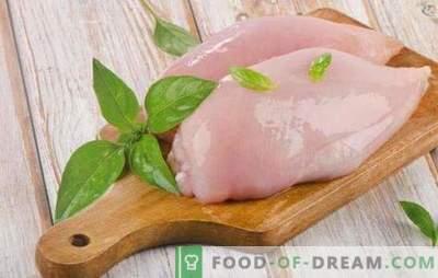 Piept de pui dietetic: nu numai sănătos, ci și gustos. Rețete de dieta pentru dieta autorului și tradițională