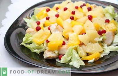 Salată cu ananas și pui - cele mai bune rețete. Cum sa faci bine si gustos sa pregatesti o salata cu pui si ananas.