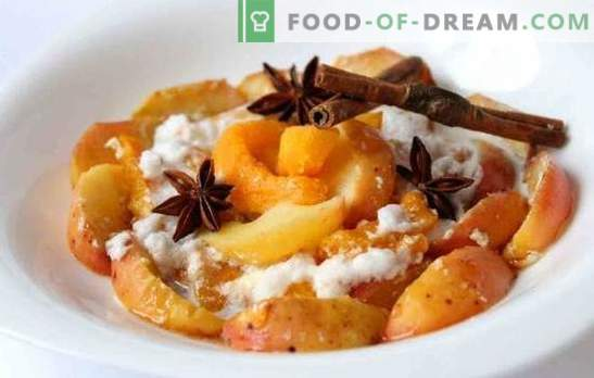 Baked pumpkin with apples - like it! Baked pumpkin recipes with apples and oranges, dried fruits, rice and meringue