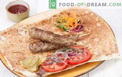 Kebab din carne de porc este cea mai bună alternativă la kebab. Retete pentru carne de porc lula kebab pe gratar, in cuptor si pan