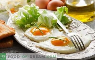 Ouă prăjite - Mic dejun gustos. Cum sa preparati ouale prajite intr-o tava, in cuptor, cu microunde, cu multicooker