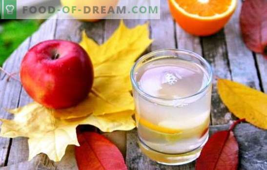 Kompot jabolk in pomaranč - okusna pijača z namigi eksotičnosti. Izbor najboljših kompotov jabolk in pomaranč