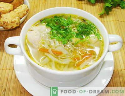 Piščančja juha z rezanci - najboljši recepti. Kako pravilno in kuhamo jušne piščančje rezance.