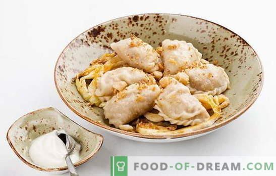 Găleți cu varză - o masă profitabilă! Retete variate de găluște cu varză și cartofi, slănină, ciuperci, carne, ficat