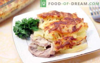 Carne de porc în franceză cu cartofi - delicios! Rețete de carne de porc în franceză cu cartofi: în cuptor, aragaz lent, într-o tigaie