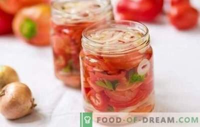 Salată de roșii dulce pentru iarnă: cele mai bune rețete pentru gustări originale. Secretele unei salate delicioase de tomate pentru iarna