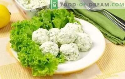 Gustare brânză de gustare - gustoasă și sănătoasă! Rețete pentru diverse gustări de brânză de vaci cu legume, brânză, bastoane de crab, avocado și ciocolată
