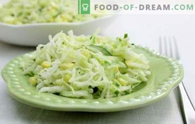 Salata cu castraveți și maioneză este întotdeauna o gustare actualizată cu vitamine. Cele mai bune retete pentru salata cu castraveti si maioneza