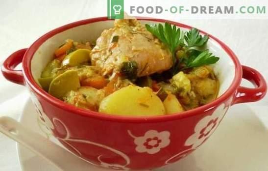 Ragout cu pui într-un aragaz lent - un fel de mâncare alimentară hrănitoare. Cum să gătești o tocană de pui într-un aragaz lent, păstrând în același timp beneficiile legumelor