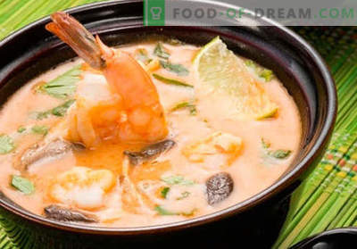 Supa Tom Yam - retete dovedite. Cum să gătești supa Tom Yam.