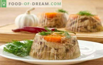 Va face jeleu delicios cu gelatina? Rețete unice și simple de brânză cu gelatină: carne de vită, legume, pui