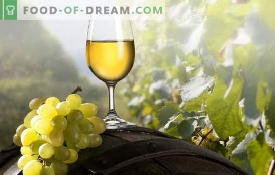Vin alb la domiciliu: pentru gurmanzi reali. Rețete de vin alb la domiciliu: struguri, prune cireșe, coacăze