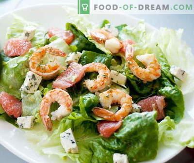 Salata de creveți - cele mai bune rețete. Cum să gătești în mod corect și gustos salata de creveți.