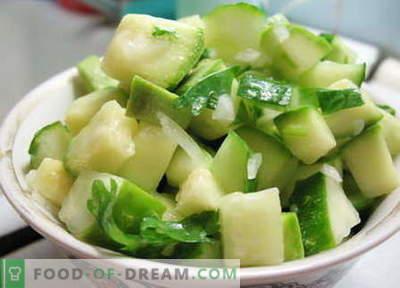 Salata de zucchini - cele mai bune retete. Cum să gustați în mod corespunzător și să pregătiți o salată de dovlecei.