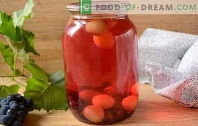 Компот от грозде: как да се готви правилно? Стъпка по стъпка фото-рецепта за прост компот от грозде