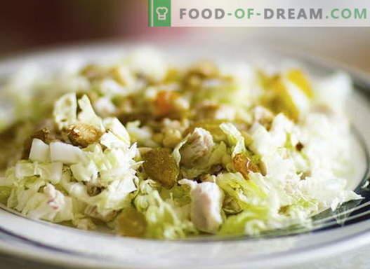 Salată cu pui și varză - cele mai bune rețete. Gatiti salata de pui si varza.
