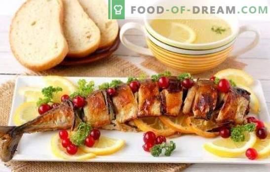 Скуша со лимон - ароматична риба за вечера. Печени церава скуша во рерна со лимон, во фолија со лимон - многу опции