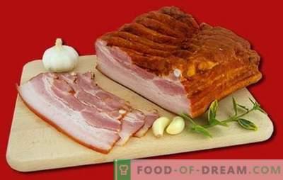 Pieptul afumat este un produs natural acasă. Retete dovedite de bacon afumat