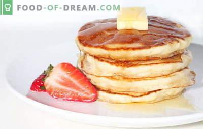 Clatite la smantana: secara, squash, cu mere. Mic dejun delicios și gustare: cele mai bune rețete de pancake pe smântână
