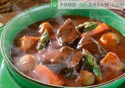 Supă de gulaș - rețete dovedite. Cum să gătești în mod corespunzător și gustoasă supă de gulă.