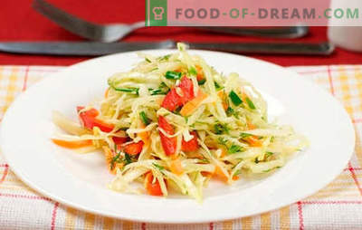 Salata de varza cu ardei grasi - cele mai bune retete. Preparați o salată cu varză și piper dulce.